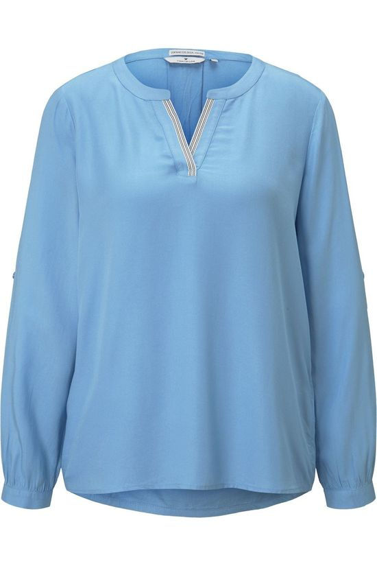 Tom Tailor Blouse 1023985 Lichtblauw
