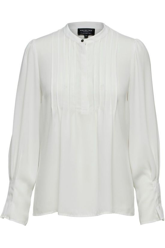 Selected Shirt livia Ls Top Nos off white