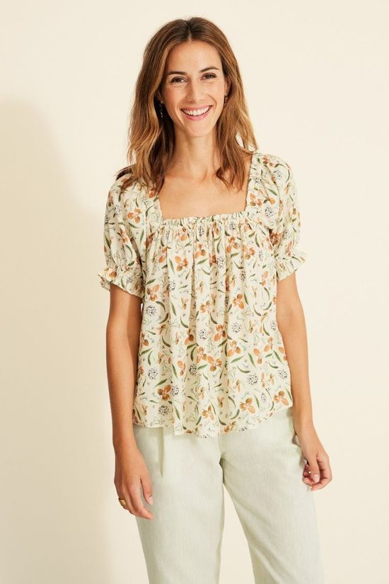 Yerse Shirt 34871 Vanille/Ass. Flower