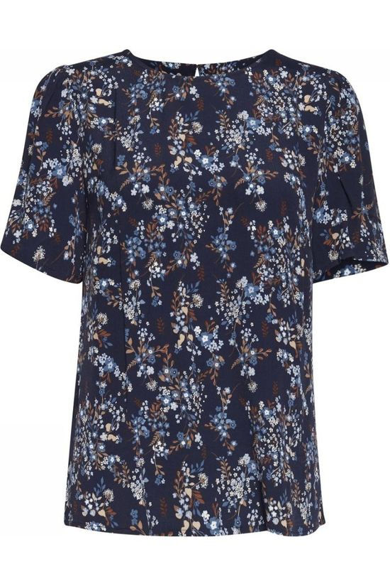 B.Young Shirt Byjill Blouse - Dark Blue/Ass. Flower
