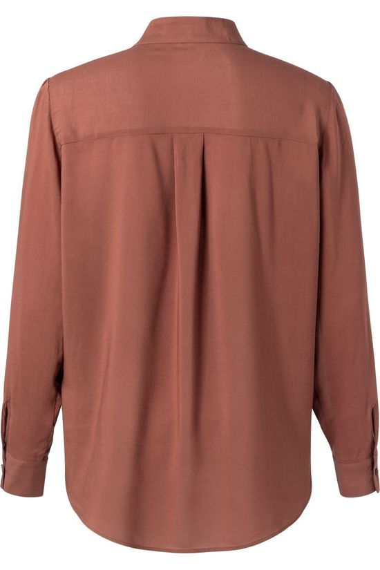 Yaya Shirt Shirt With Pussy Bow mid brown
