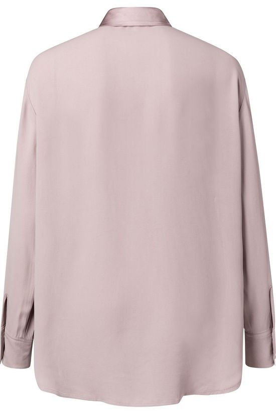 Yaya Hemd Shiny Slighty Oversized Blouse Lichtroze