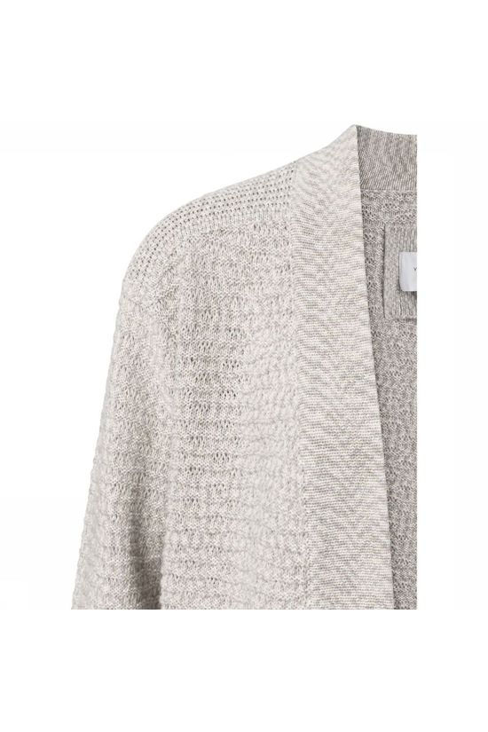 Yaya Cardigan Cotton Structure Knitted Ecru