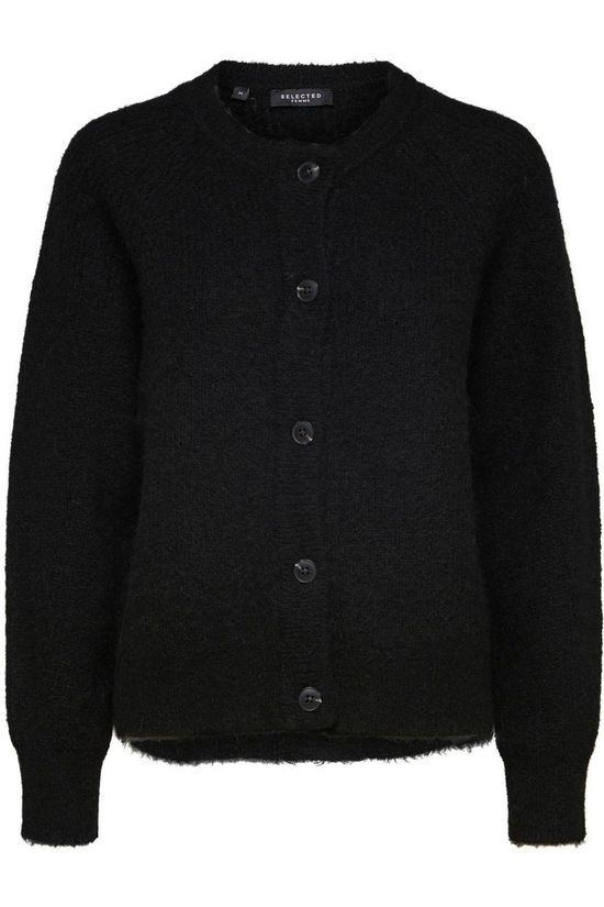 Selected Cardigan lulu Ls Knit Short Nos black