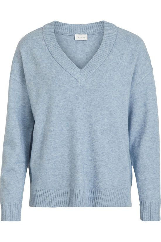 Vila Pullover Viril Oversize light blue