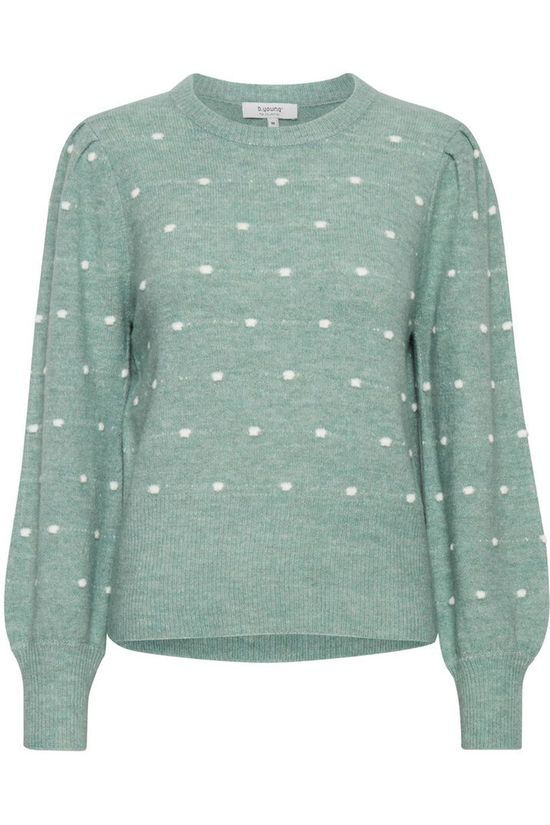 B.Young Pullover Bymartine Small Dot light green/white