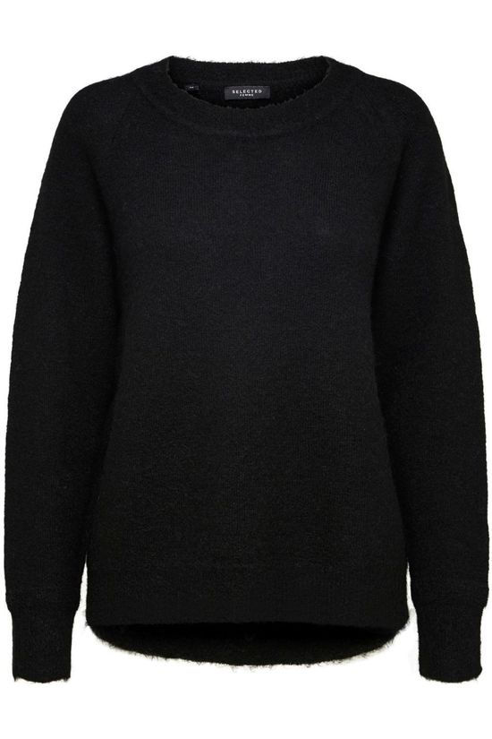Selected Pullover lulu Ls Knit O Neck Nos black