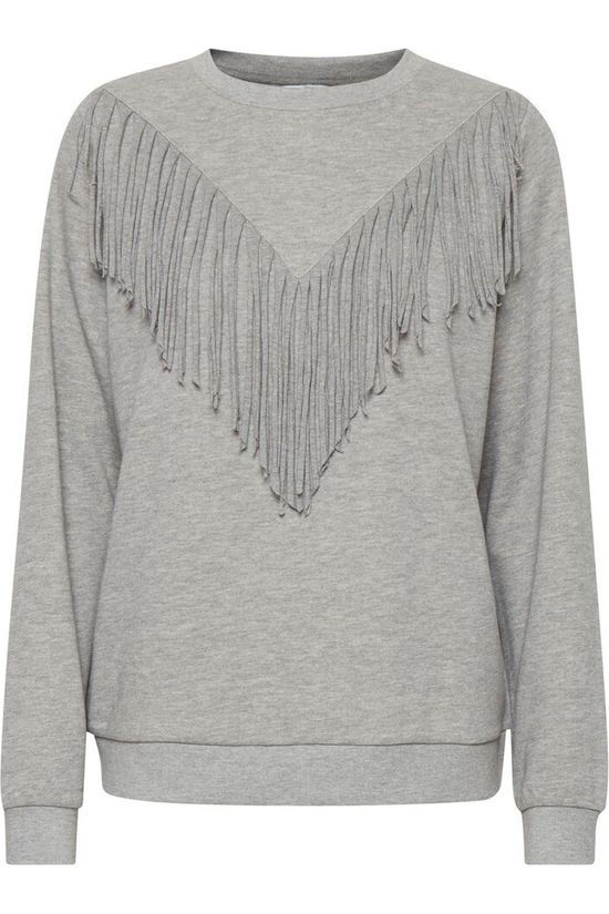 B.Young Pull Bysophie Frills Sweat Gris Moyen