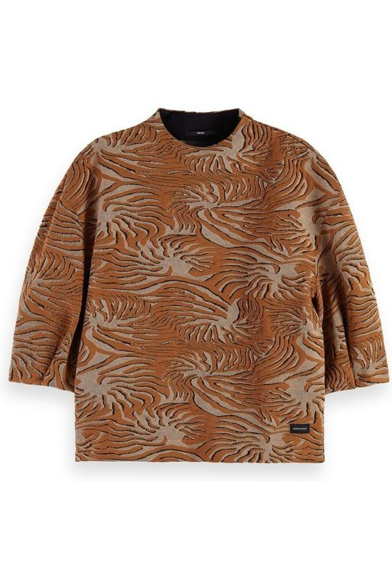 Scotch & Soda Pullover 161686 Camel Brown/Sand Brown