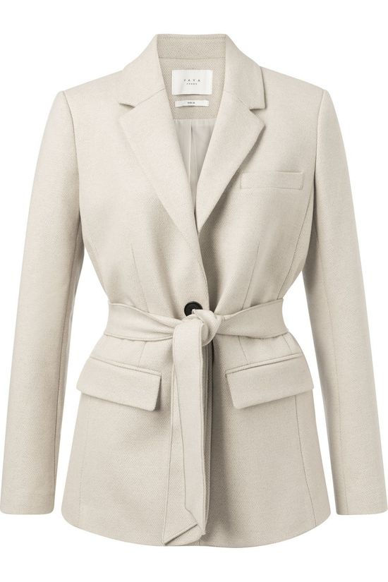 Yaya Blazer With Belt Ecru