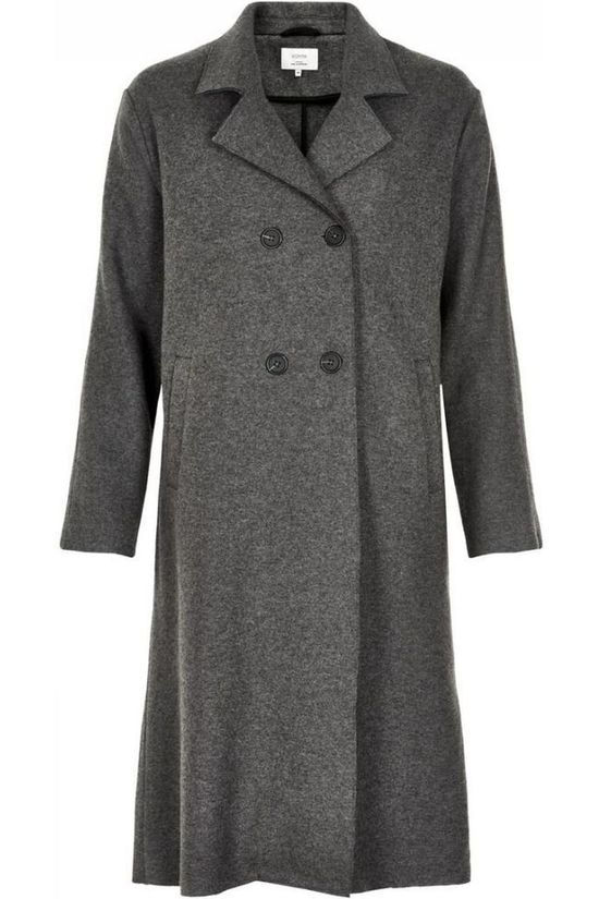 Numph Coat Maliyah Dark Grey Marle