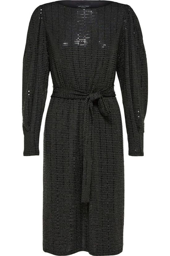 Selected Robe sandra Ls Knee B Noir
