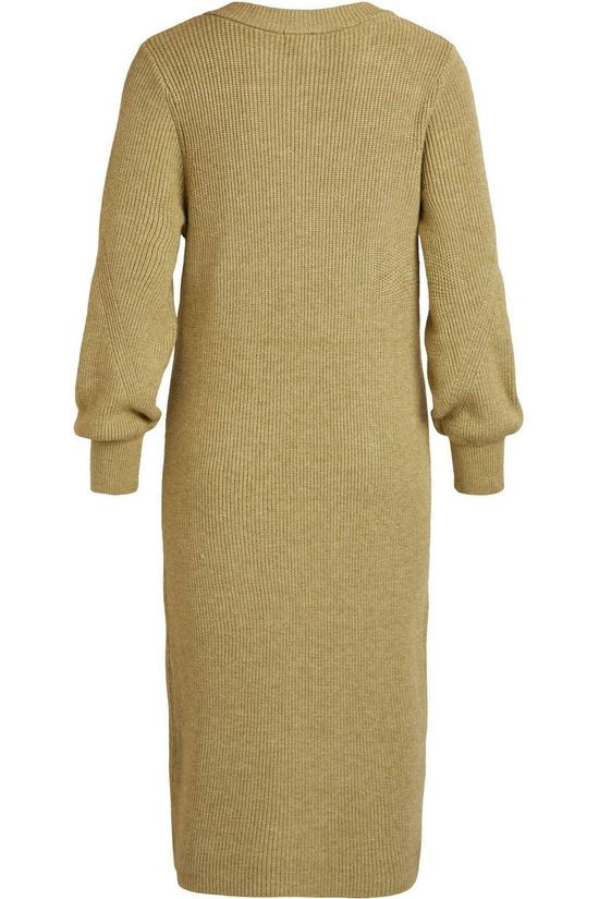 Object Dress Objviolette L/S light khaki