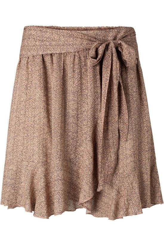 Yaya Skirt Printed Mini With Faux Wrap Effect light pink/light brown