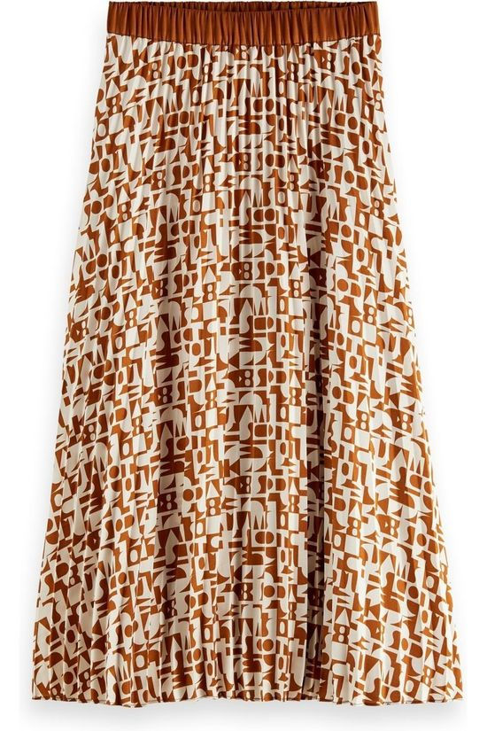 Scotch & Soda Skirt 162235 Off White/Camel Brown