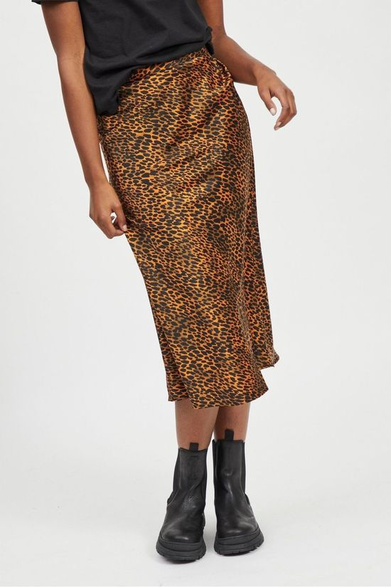 Vila Skirt Vijemocarlia dark khaki/orange