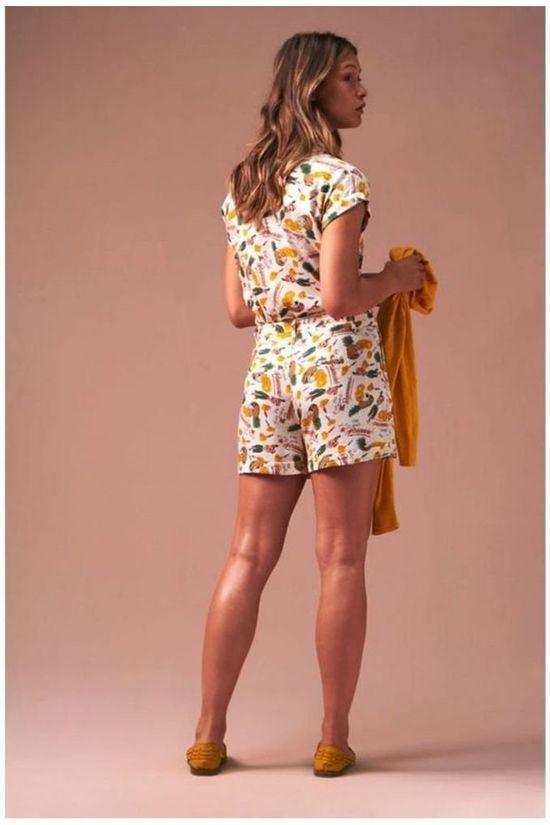 King Louie Shorts Roisin Punch white/mid yellow