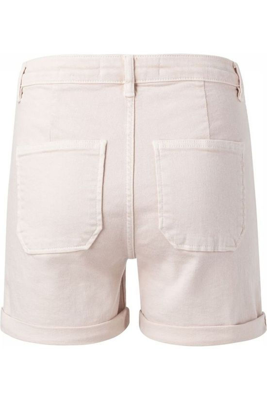 Yaya Short Colored Denim Cargo Rose Moyen