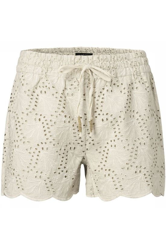 Yaya Shorts With Broderie Anglaise Sand Brown