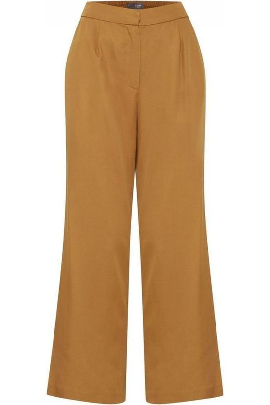 Ichi Trousers vista Pa Camel Brown