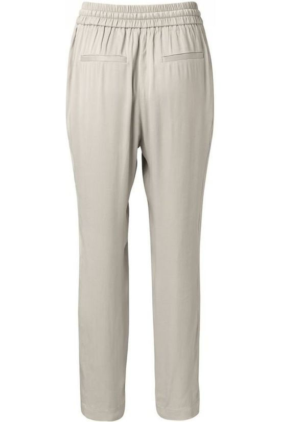 Yaya Trousers Woven Satin Sand Brown
