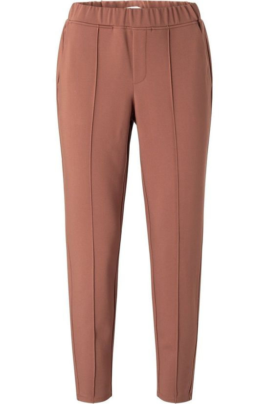 Yaya Broek Jersey Tailored Middenroze