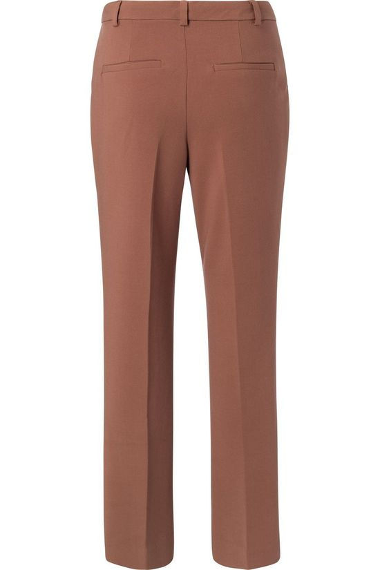 Yaya Pantalon Tailored Flare Brun Foncé