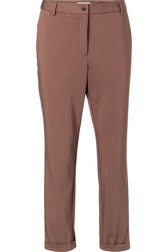 Yaya Trousers Relaxed Fit mid brown