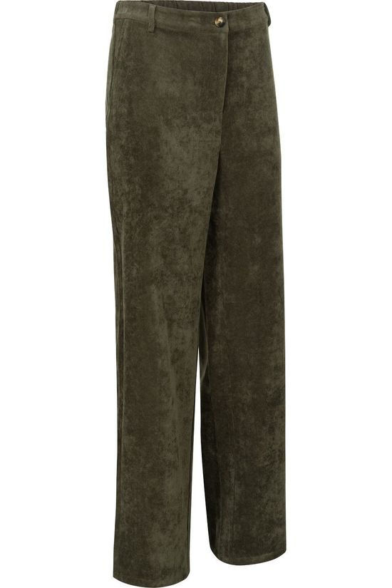 Vila Trousers Vives Corduroy dark khaki