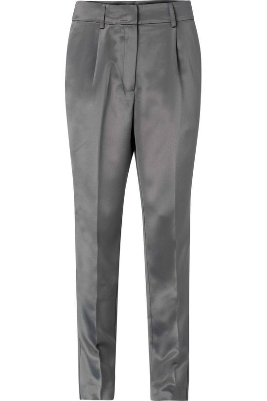Yaya Trousers Satin Relaxed Fit Trousers dark grey