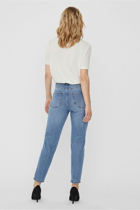 Vero Moda Jeans Vmjoana Hr Strch Mom Ank Light Blue (Jeans)