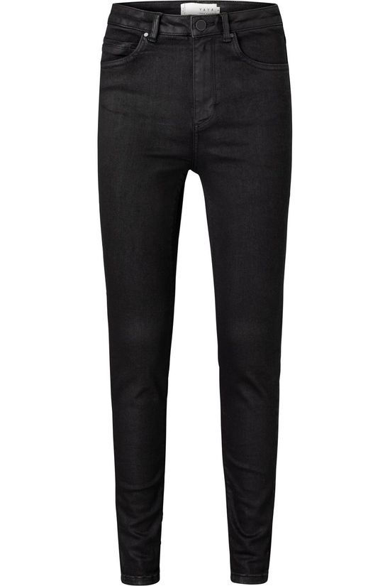 Yaya Jeans Cotton Coated Skinny Jeans With High Waist black