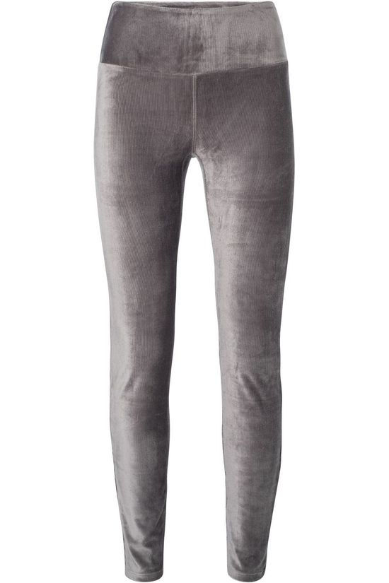 Yaya Leggings Velvet mid grey