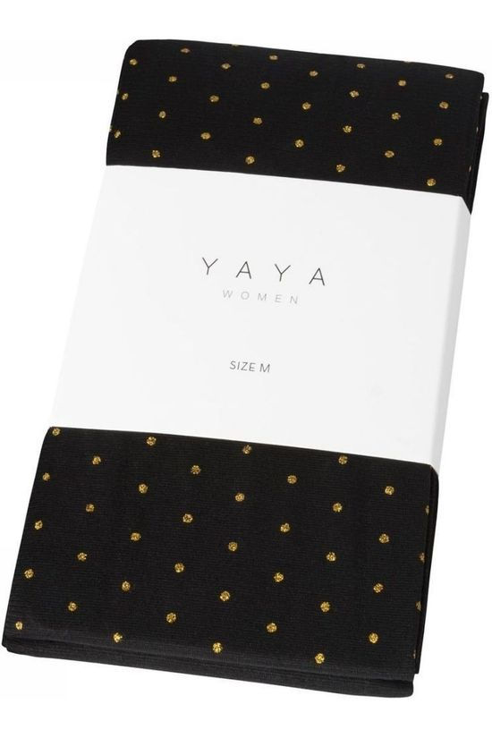 Yaya Panty With Lurex Dot Zwart/Goud