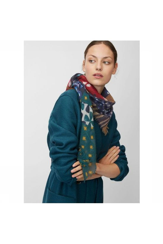 Marc O'Polo Scarf 908 8175 02171 Navy Blue/Dark Green