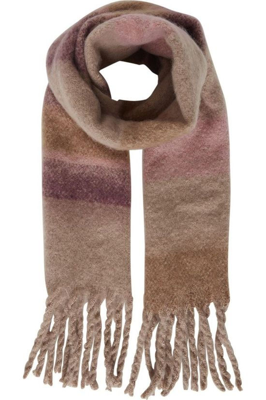 Ichi Scarf Iakatie New Sc mid brown/mid pink