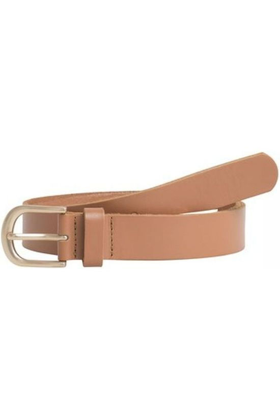 Pieces Belt Pc Funda Leather Jeans Camel Brown