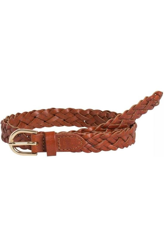 Pieces Belt Pc Avery Leather Breaded Slim Noos Camel Brown