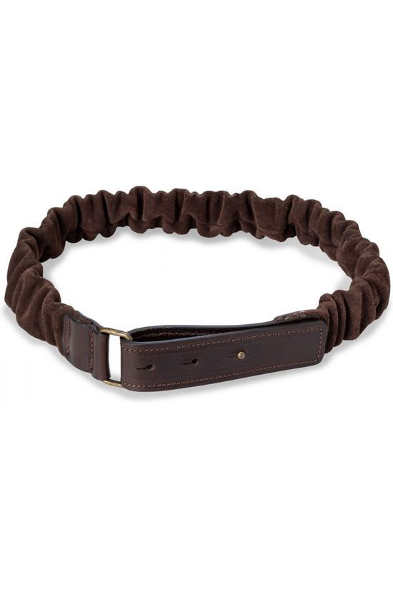Yaya Riem Suede Belt With Ruffles Middenbruin