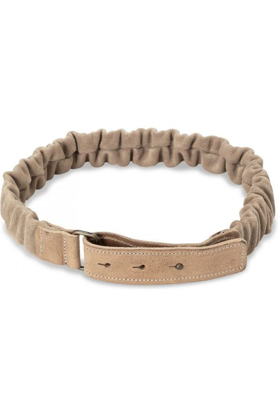 Yaya Ceinture Suede With Ruffles Brun Sable