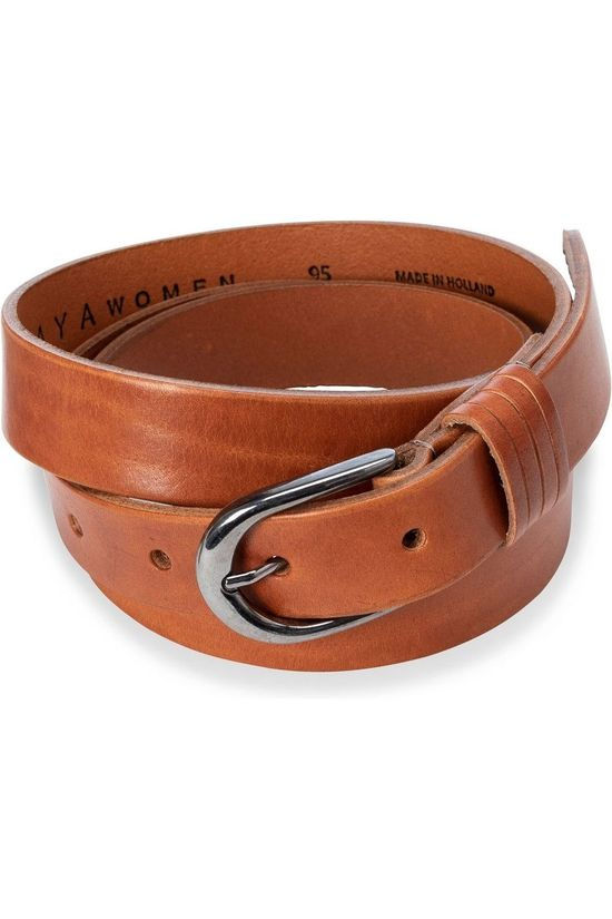 Yaya Riem Basic Leather Belt Kameelbruin