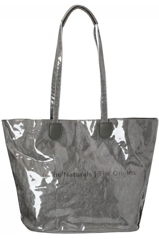 Yaya Tas Bag With Transparent Layer And Print Middenkaki