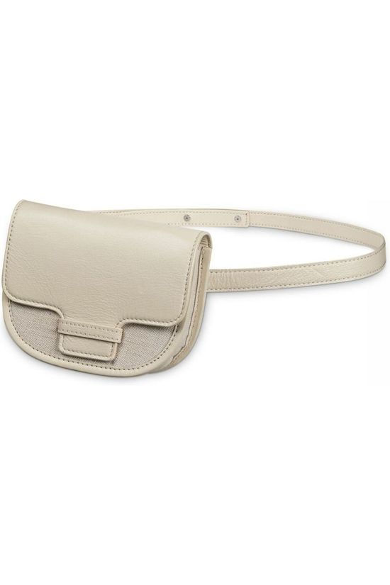 Yaya Tas Leather Waist Canvas Panel Ecru