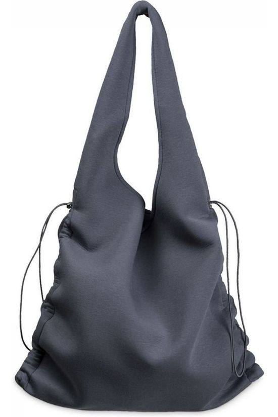 Yaya Bag Scuba Shopper With Drawstrings mid blue