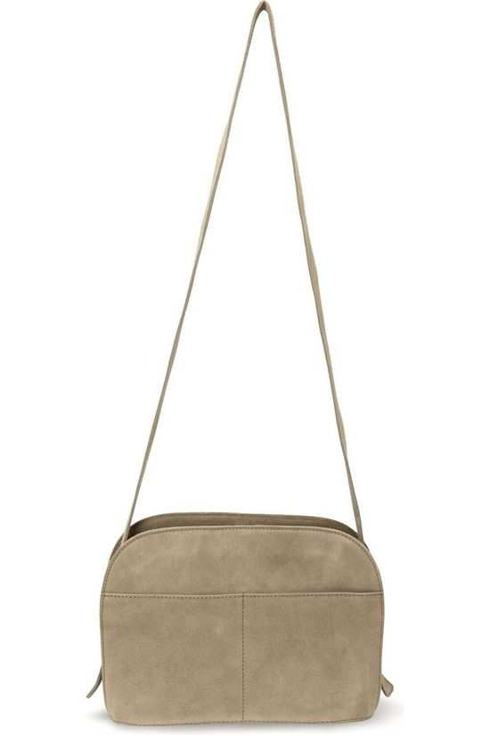 Yaya Tas Suede Shoulder With Card Holder Lichtbruin