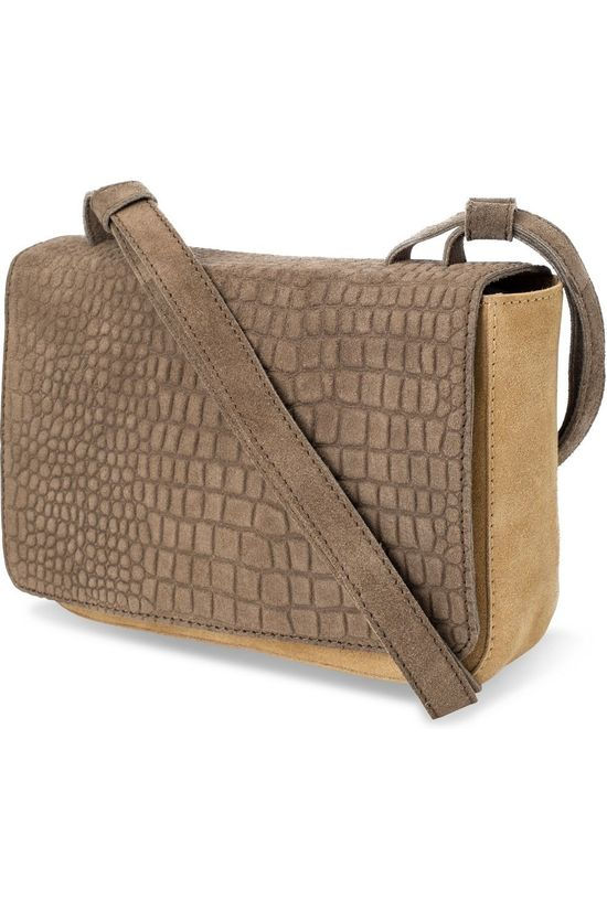 Yaya Tas Crossbody Bag Zandbruin/Donkerbruin