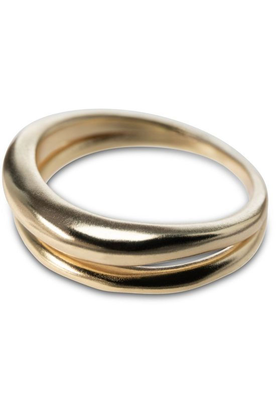 Yaya Ring Double Hammered Ring Goud