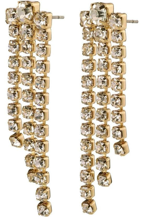 Pilgrim Earring Petra Earrings Gold Plated Crystal gold