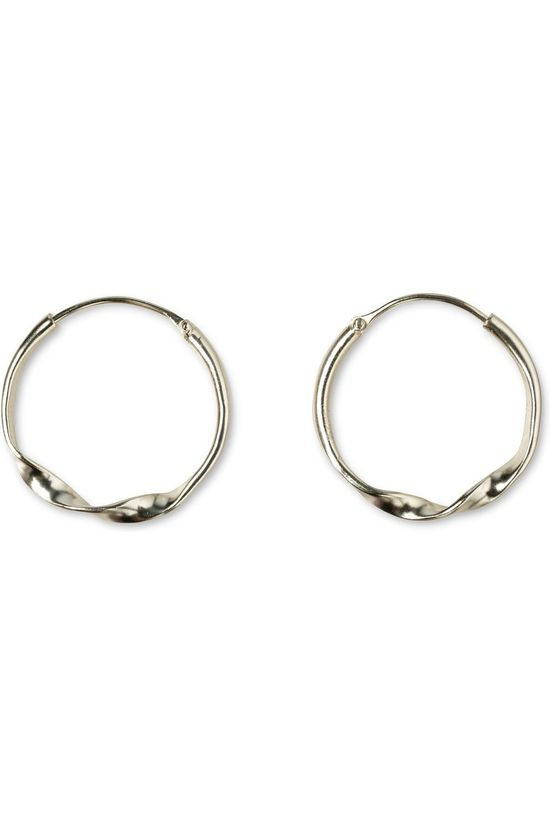Yaya Oorbel Hoop Earrings With Twist Goud