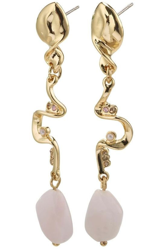 Pilgrim Boucle D'Oreille Intuition Gold Plated Rose Or/Rose Clair